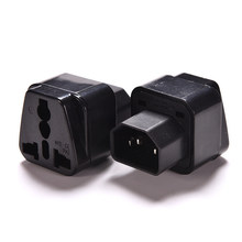 1PC 10A-16A 110V-250V Black Female Socket To Pro IEC 320 PDU UPS C14 Plug Power Adapter Converter(China)