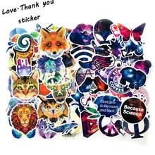 цена на 70PCS Animal +Starry Sky Sticker Luggage Skateboard Doodle Vinyl Decals Car Styling Laptop Bike Toy Waterproof DIY  Kids Sticker