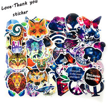 70PCS Animal +Starry Sky Sticker Luggage Skateboard Doodle Vinyl Decals Car Styling Laptop Bike Toy Waterproof DIY Kids Sticker(China)