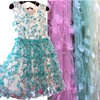 Latest African Laces 2016 Tulle Chiffon Lace Fabric Embroidered 1Yard Wide130cm Mesh Floral Tissus Lace High