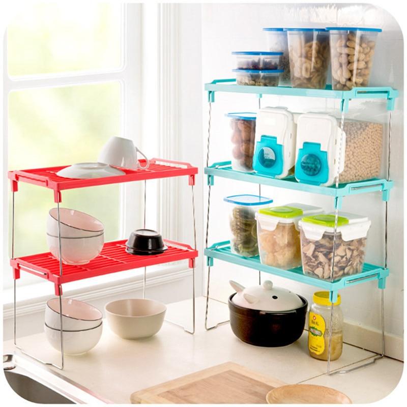 Free shippin kitchen multipurpose foldable multilayer composite shelf Desktop finishing the bathroom toilet sundry receive frame