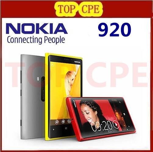 1 Year warranty Unlocked Original Nokia Lumia 920 refurbished Windows Phone 8 Dual Core 32GB Storage
