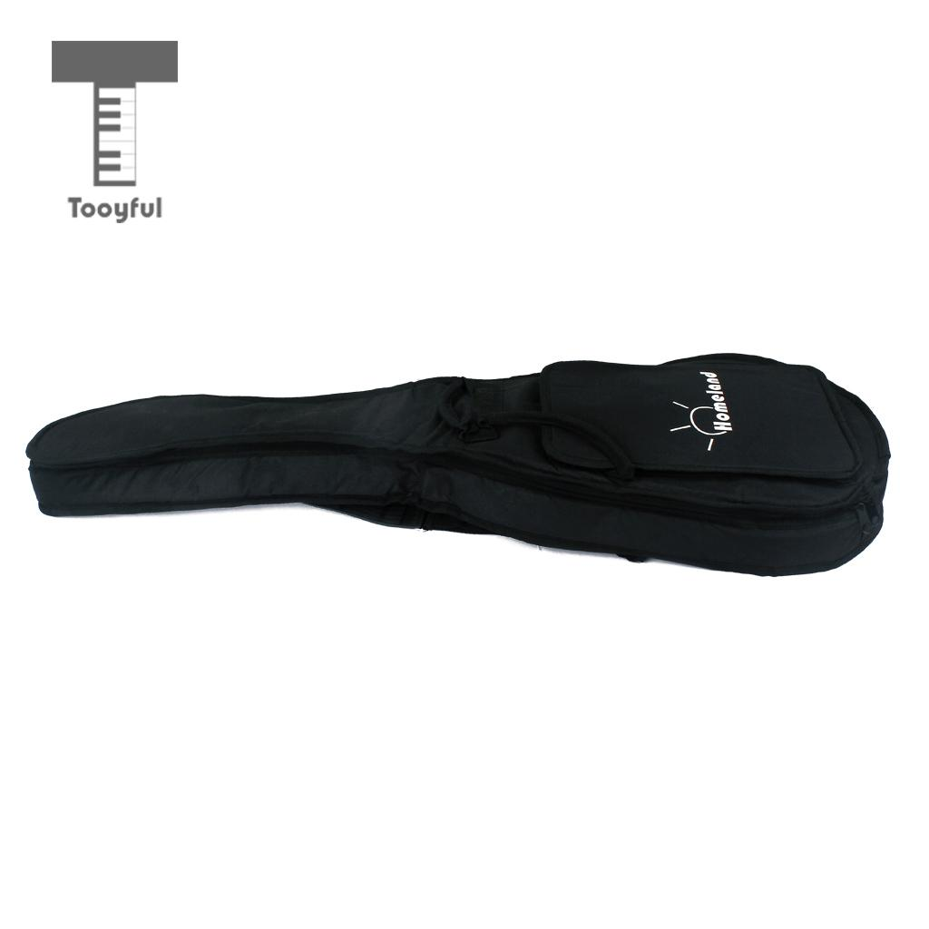 Tooyful Nylon Double Straps Electric Guitar Bag Soft Case Gig Bag Backpack for SG LP Parts waterproof thicken 11 5 mm electric guitar bag case backpack guitarra accessories parts colorful cloth carry gig