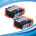 XIMO 10 Pack of premium ink cartridge for HP655 fits for HP Deskjet Ink Advantage 4615