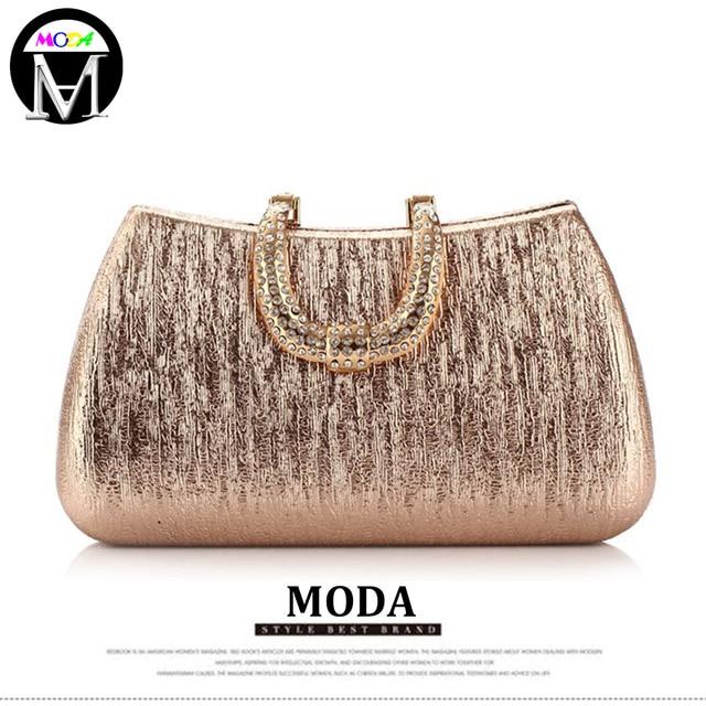Moda Women Diamond Clasp Crystal Glitter Clutch Party Prom Evening Bags Sequin Purse Las Handbags