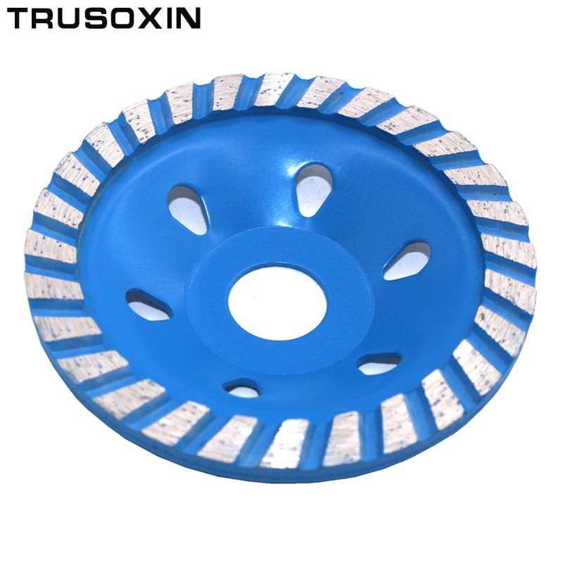 100 mm segmentinis turbo puodelio šlifavimo diskas Diskinės dubens formos šlifavimo taurė Betono granito akmens keramikos įrankiai