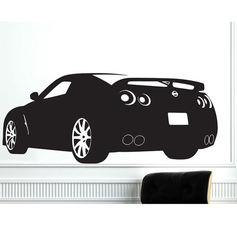 Carro Esportivo De Corrida Nissan Gtr Decalque Decor Sticker Art Vinyl Mural  Decalques Automotive Auto Decalques Part 95