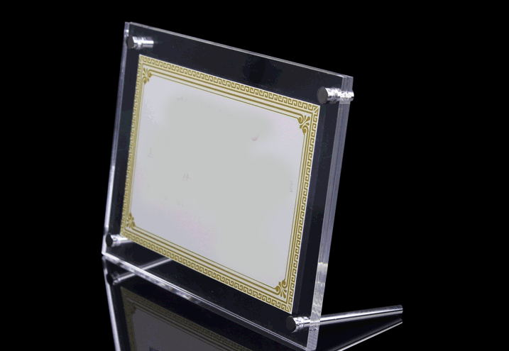 gt3155 3inch clear 3inch plexiglass photo frame for collage picture hold 80x50mm photo