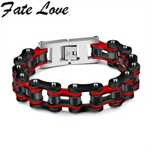Fate Love 2017 New Collection Cycling Chain Man'Bracelet Stainless Steel Matel Mixed Colors Popular Bracelet Cool Jewelry FL856