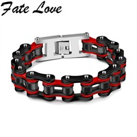 Fate Love 2017 New Collection Cycling Chain Bracelet Stainless Steel Matel 4 Colors Popular Bracelet Man