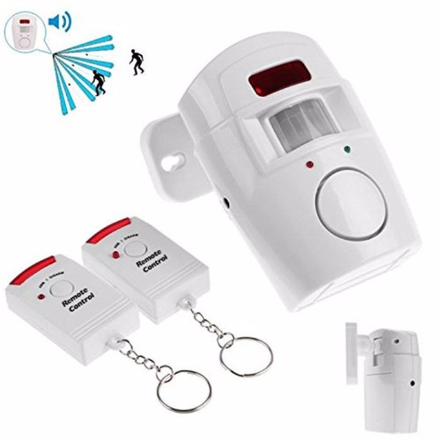 Best Price Home Security Alarm System Wireless Detector +2 remote controllers PIR Infrared Motion Sensor alarm Wireless Alarm Monitor