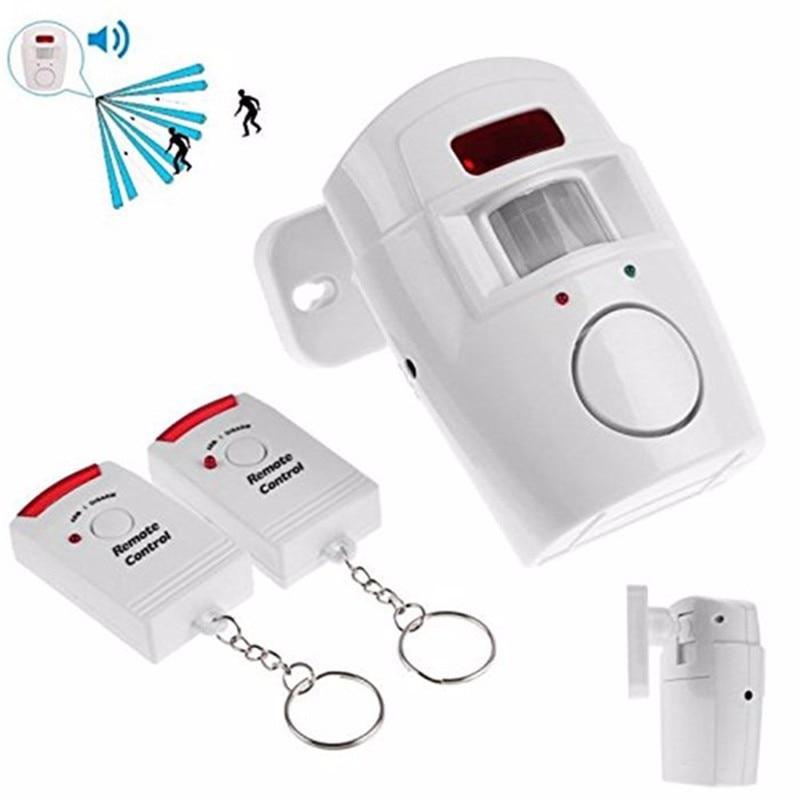 Home Security Alarmanlage Wireless + 2 fernbedienungen PIR Infrarot-bewegungsmelder alarm Funkalarm Monitor
