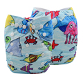 JinoBaby Baby Diaper Pants One Size Washable Nappies for Newborn to 13kgs babies (with Bamboo Insert)