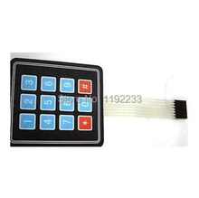 10pcs/lot 3 * 4 Matrix Keypad Membrane Switch Outside Enlarge Keypad For Arduino