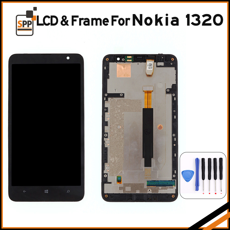 LCD replacement for Microsoft Nokia Lumia 1320 LCD display touch screen digitizer frame complete assembly repair black 6+tools lcd screen replacement for oneplus one plus 3 lcd display touch digitizer frame complete assembly repair pantalla black white