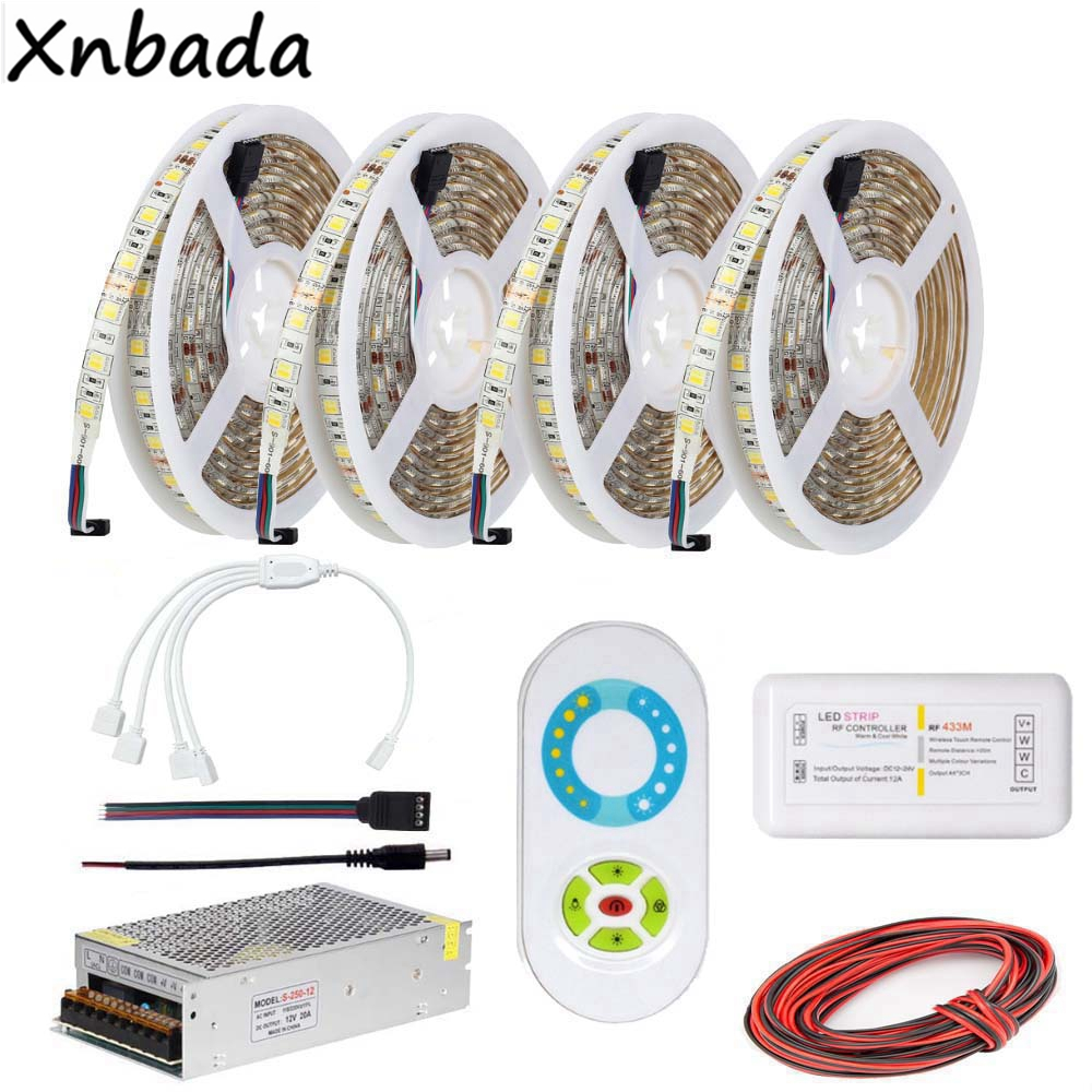 RF CT Remote Led Controller,SMD5050 Led Strip Color Temperature Flexible Light Power Driver Kit 5M 10M 15M 20M