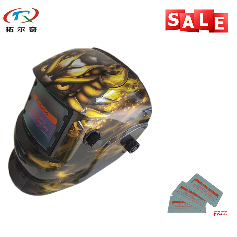 Tools Welding & Soldering Supplies Cooperative Fast Delivery Free Protective Pp Sheet Energy Welder Tools Darkening Welding Helmet Welder Helmet Trq-hd34 With 2200de