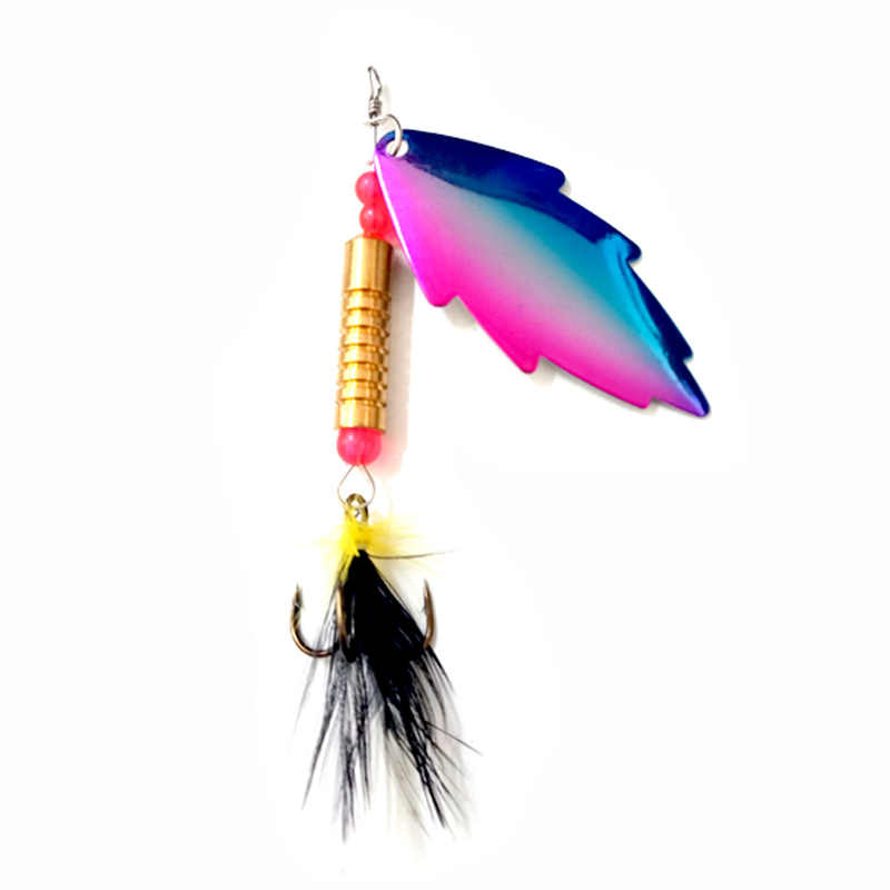OLOEY рыболовная приманка вращающаяся металлическая Спиннер ложка рыболовная приманка жесткие приманки для форель Щука Pesca Peche Тройной крюк