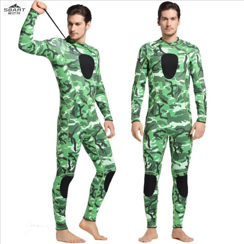 Sbart 1024 3MM thick rubber surfing diving suit warm winter swimming male long sleeved one-piece camouflage clothing jellyfish sbart upf50 806 xuancai