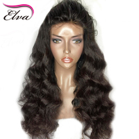 Elva Hair Pre Plucked Lace Front Wig Deep Body Wave Brazilian Lace Front Human Hair Wigs