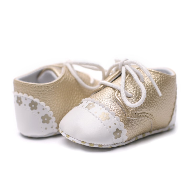 New Fashion Lace-Up Shoes England Style Baby Girl Shoes Indoor Crib Shoes PU Walking Shoes First Walkers 2018