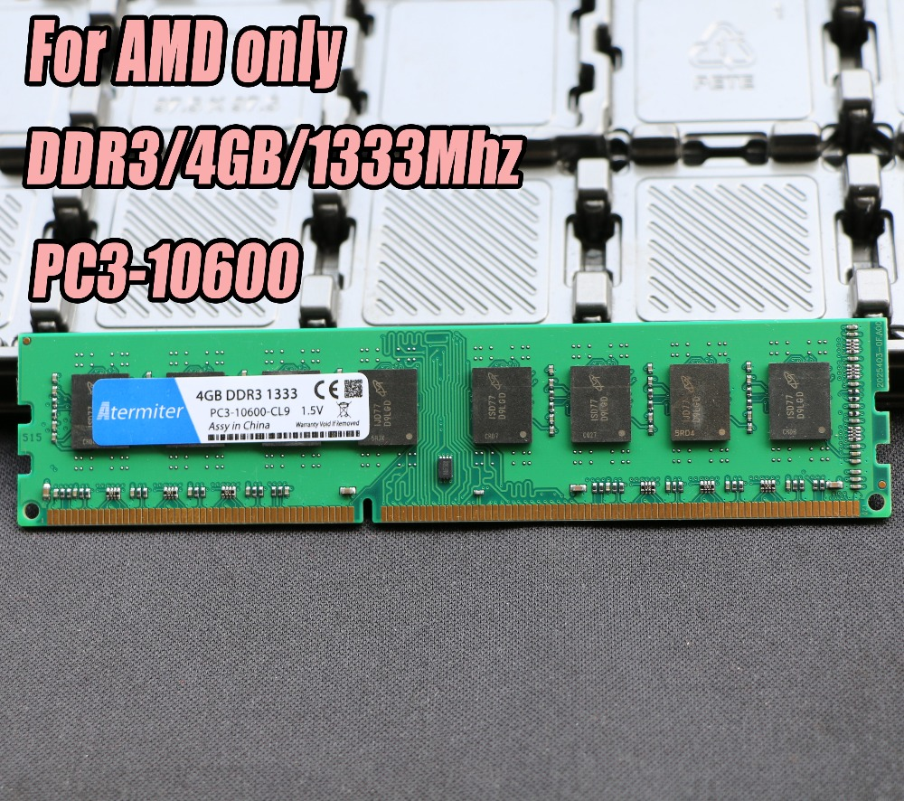 New 4GB DDR3 PC3-10600 1333MHz For Desktop PC DIMM Memory RAM 240 pins For AMD System High Compatible 4G 1333 DDR2 new 4gb 2x2gb ddr3 pc3 10600 1333mhz desktop memory ram dimm 240 pin 1333mhz non ecc low density free shipping