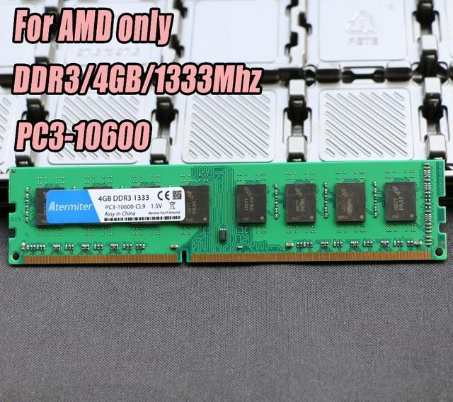 Novo 4 GB PC3-10600 DDR3 1333 MHz Para Desktop PC de Memória DIMM RAM 240 pinos Para AMD Sistema Compatível Com Alta 4G 1333 DDR2