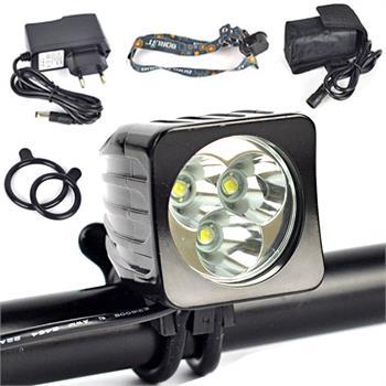 6000Lm 3X XML T6 LED Head Front Bicycle Light Bike Lamp Headlamp+6400mAh Battery 6000 lumens 3x cree xml u2 led x3 front bicycle lamp bike light headlamp headband 6400mah battery pack charger 4 modes