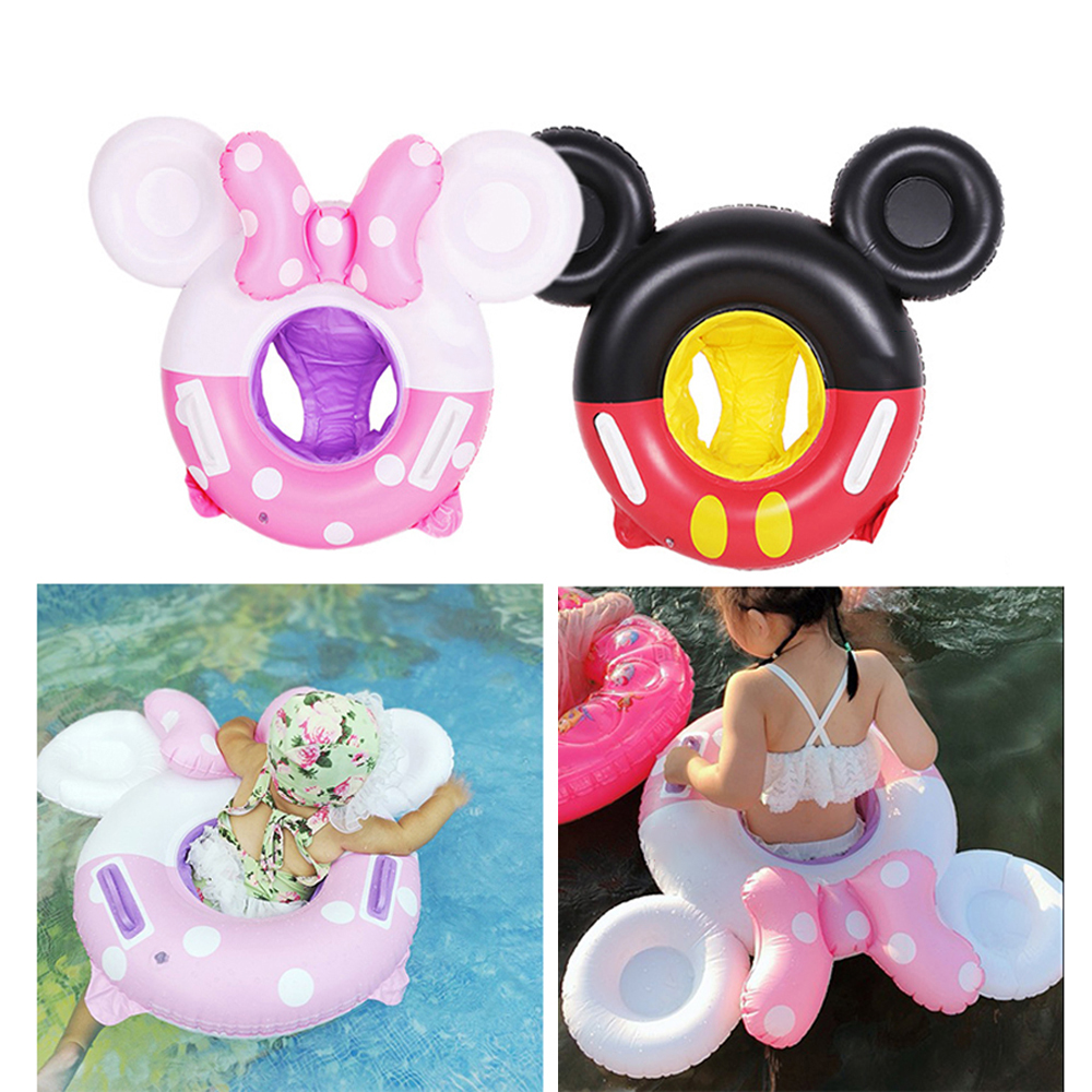 High Quality Kids Swimming Ring Baby Inflatable Pool Float Ring Mickey Mouse Cartoon Kids Pool Toy Float Thick