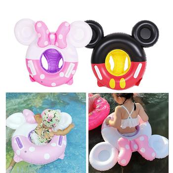 Wysokiej jakości dzieci nadmuchiwane koło dziecko nadmuchiwany ponton do basenu pierścień Mickey Mouse Cartoon basen dla dzieci zabawki Float gruby tanie i dobre opinie 2709