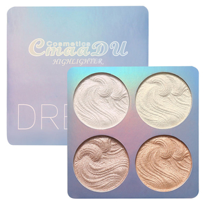 CmaaDu 4 Colors Brighten Highlighter Baking Eyeshadow Palette Repair Facial Makeup Powder Contour Blush Make Up Cosmetics TSLM2(China)