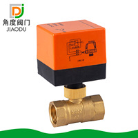 Factory Direct 4 Points 6 Minutes Central Air Conditioning Fan Coil Brass Electric Two Way Ball