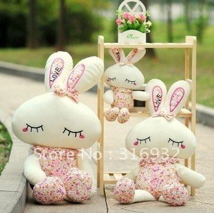 J1 New!  Plush toy Cute LOVE Rabbit doll, flower dress Rabbit doll 60cm 1pc