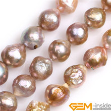 Near Round Big Large Natural Nuclear Edison Pearls Beads DIY Loose Beads For Jewelry Making Strand 15 Inches Wholesale !