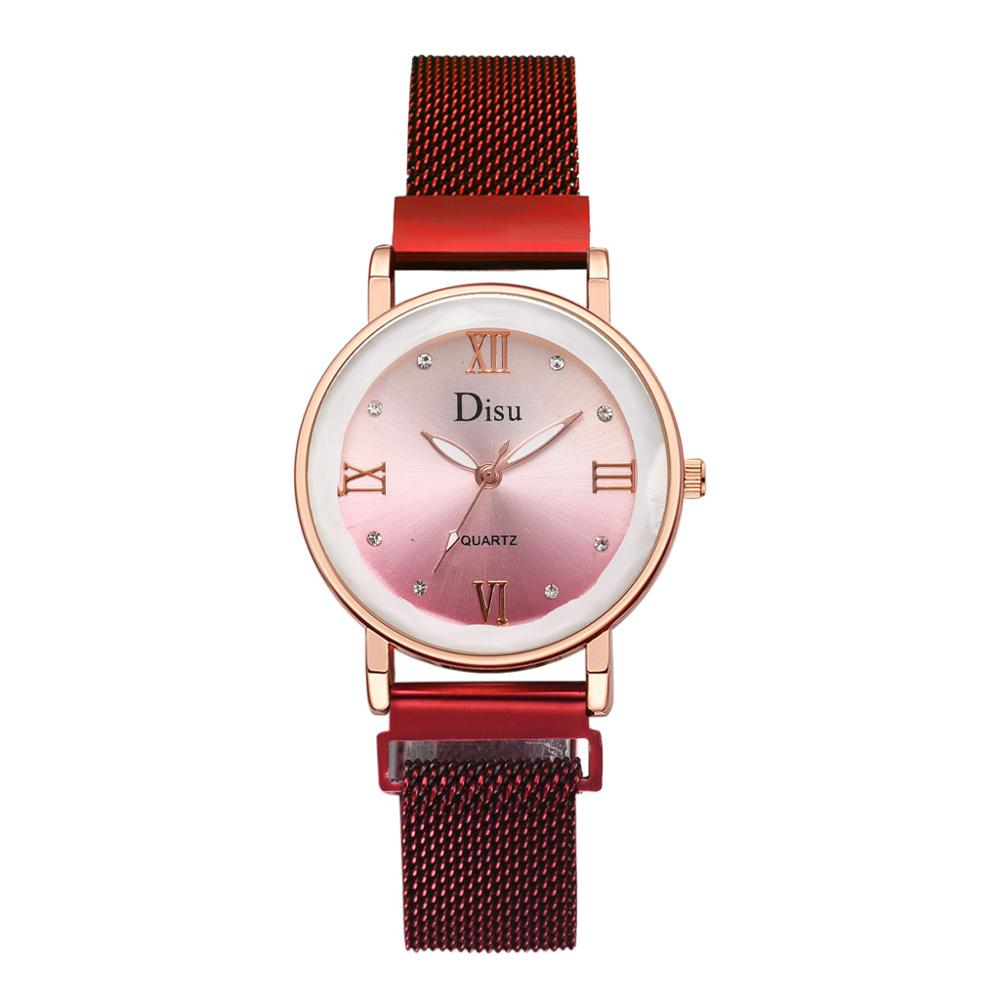 Luxury Crystal Watches For Women Magnetic Quartz Wrist Watch Top Brand Fashion Casual Purple Female Clock relogio feminino 2019 in Women 39 s Watches from Watches