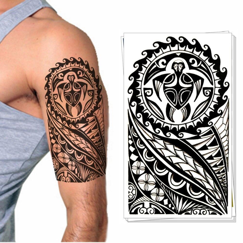Projeto Da Arte do Corpo Etiqueta Do Tatuagem Temporária-Totem Maori Também para Mulheres Dos Homens Óculos Copo Portátil Bicicleta Telefone Decoração