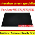 Nueva asamblea lcd original b156xtn03.1 para acer v5-571 v5-571p v5 571 táctil digitalizador pantalla con marco bisel 1366*768