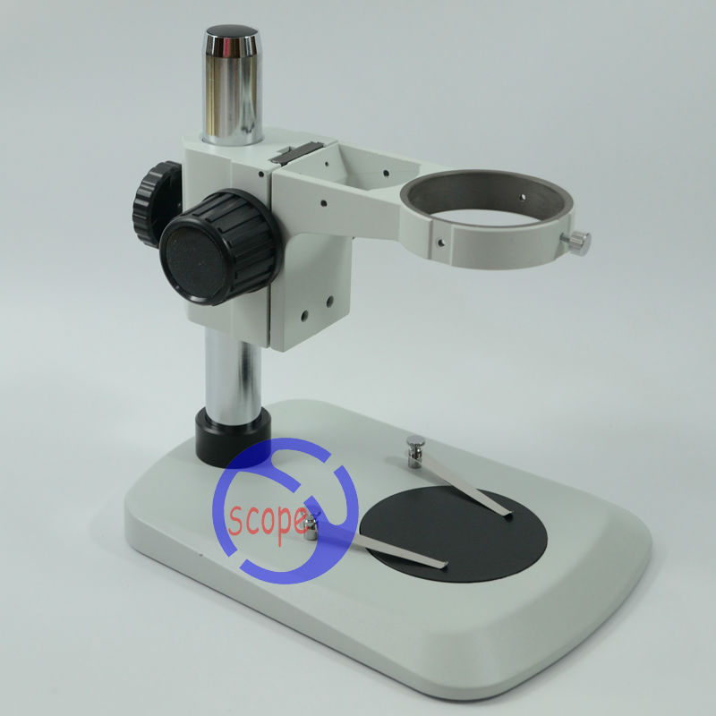 FYSCOPE  Stereo Zoom Microscope Table Stand with Focusing Rack B6+A1 microscope vertical flat stand base for zoom stereo microscope