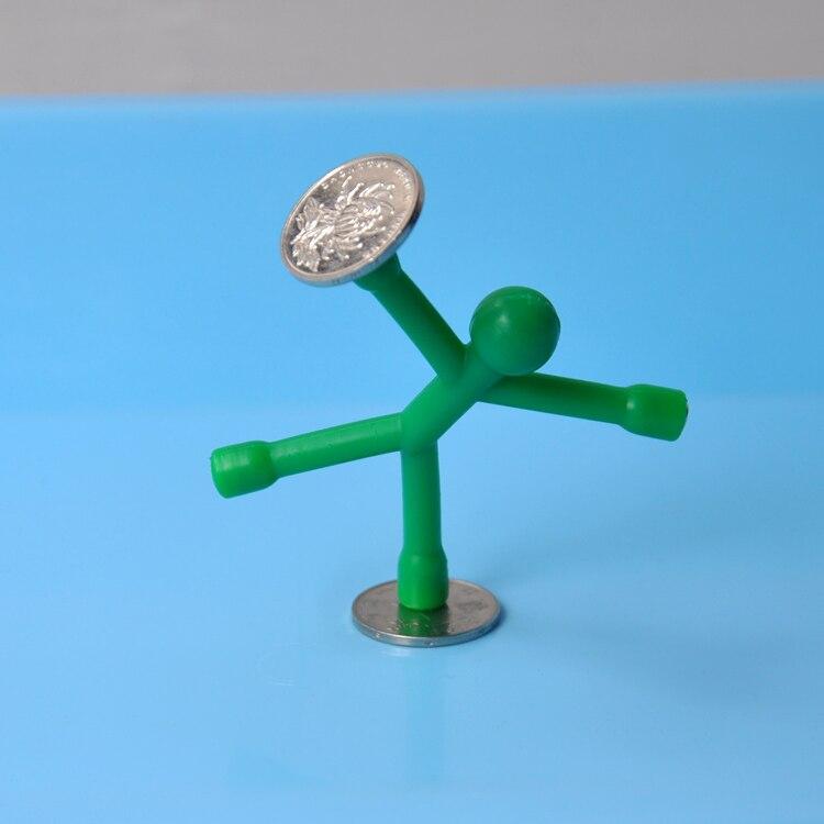 Одноцветные магниты на холодильник для мужчин Q-Man Qman для детей, новинка, научная игрушка, магнитная фигурка для офиса, холодильник, бумага, фото, зажим, наклейка - Цвет: green