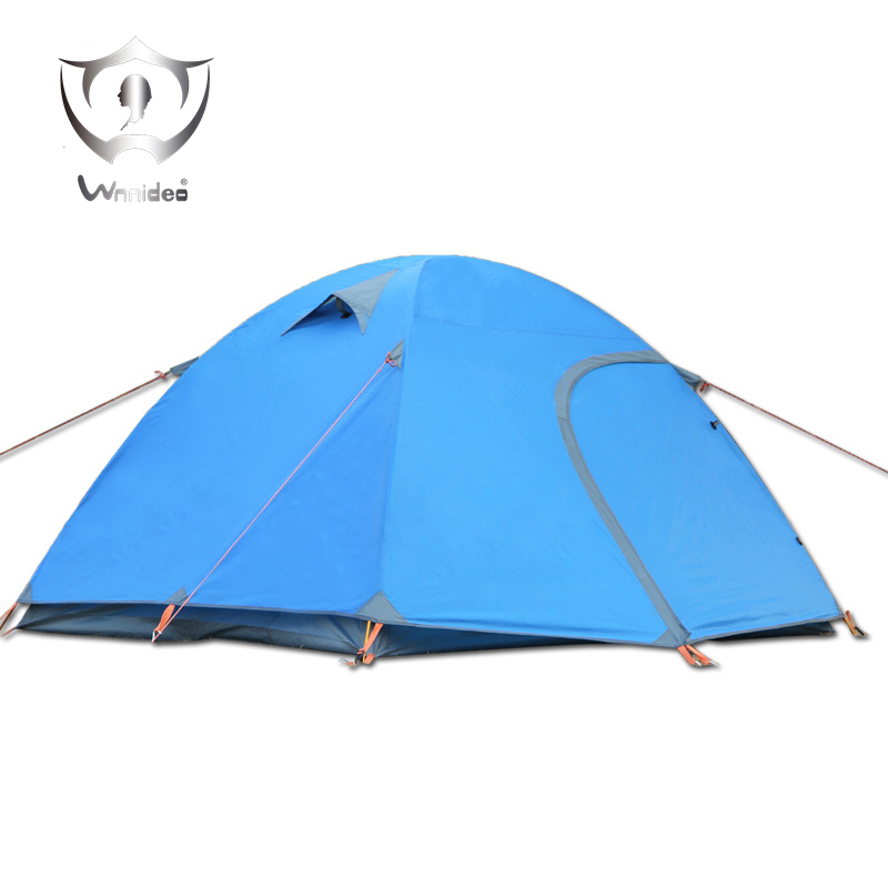 Wnnideo 3-4 People Tent Double Doors Picnic Beach Camping Hiking Traveling Outdoor Aluminum Alloy Portable Ultralight ZF6-508 2 people portable parachute hammock outdoor survival camping hammocks garden leisure travel double hanging swing 2 6m 1 4m 3m 2m
