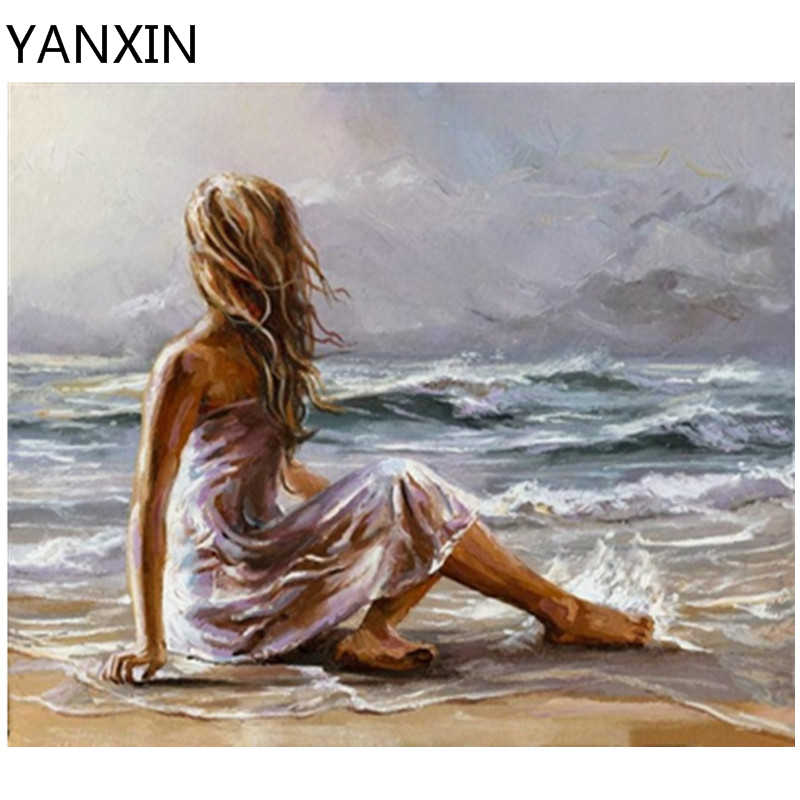 YANXIN DIY Frame Painting By Numbers Oil Paint Wall Art Pictures Decor For Home Decoration 957
