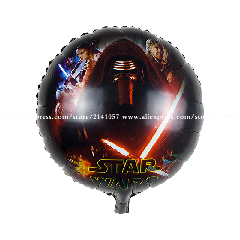 50pcs/lot The new 18-inch aluminum balloons star wars Star Wars toys for childre