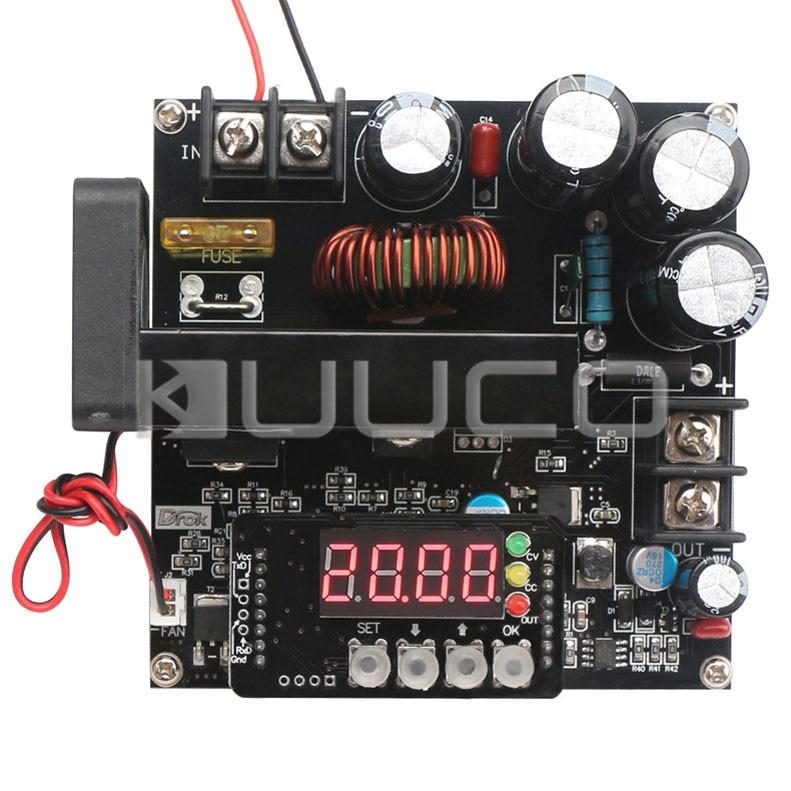 900W Power Supply Module DC8~60V to 10~120V 15A NC Adjustable Voltage Regulator DC12V 24V Boost Converter with Voltmeter Ammeter