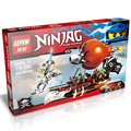 Ninjagoed Lepin Ninja JAY Raid Zeppelin Lepin Ladrillos Bloques de Construcción de Armas Ninja Juguetes Compatible Legoed