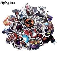 Flyingbee 70 Pcs Anime boy Japanese Graffiti Stickers for Kids DIY Luggage Laptop Skateboard Car Waterproof Sticker X0214
