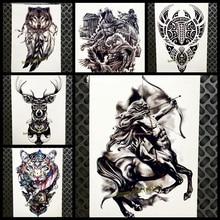 Western Mythology Style Temporary Tattoo For Men Women 21x15cm Centaur Sagittarius Tatoo Body Art Waterproof Fake Tattoo Sticker
