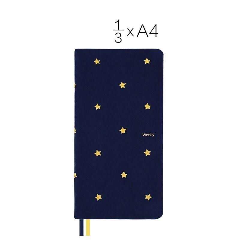 Good Night Sweet Dream Theme Slim Week Planner 10.8*21.4cm Undated DIY Yearly Monthly Weekly Plan Scheduler Book 88 Sheets