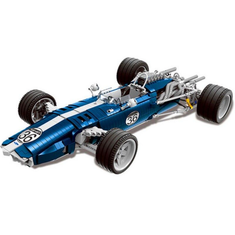 XINGBAO MOC эксклюзивный дизайн Гран-при Racer F1 гоночный автомобиль строительные блоки кирпичи классическая модель детские игрушки Совместимост...