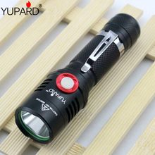 YUPARD XM-L2 led Stepless Dimming flashlight torch usb charging lamp T6 LED 18650 rechargeable battery camping fishing outdoor(China)