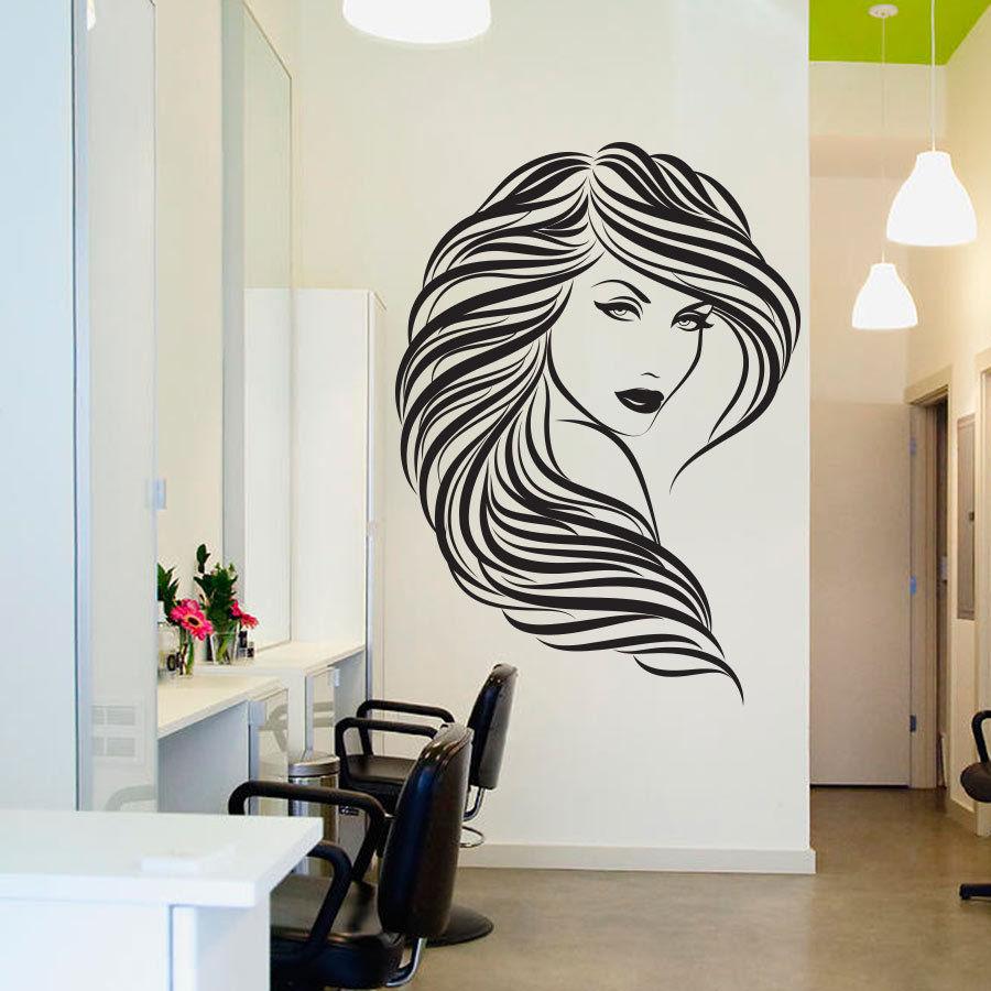 Buy Popular Beauty Hair Salon Wall Decal